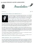 Alumni Association Newsletter: April 1969 by La Salle University