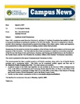 Campus News March 9, 2007