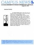 Campus News August 23, 1991