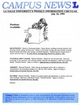 Campus News July 26, 1991