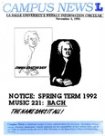 Campus News November 1, 1991