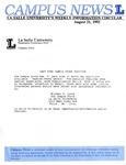 Campus News August 21, 1992