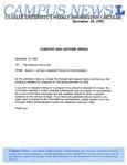 Campus News December 18, 1992