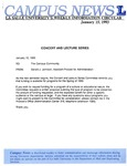Campus News January 15, 1993