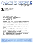 Campus News February 12, 1993
