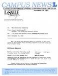 Campus News November 20, 1992