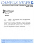 Campus News January 14, 1994