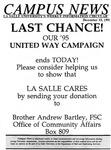 Campus News December 15, 1995