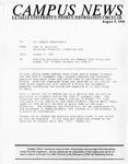 Campus News August 9, 1996