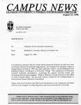 Campus News August 23, 1996