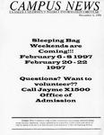 Campus News December 6, 1996