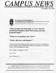 Campus News November 15, 1996
