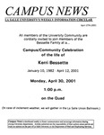 Campus News April 27, 2001