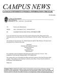 Campus News October 5, 2001