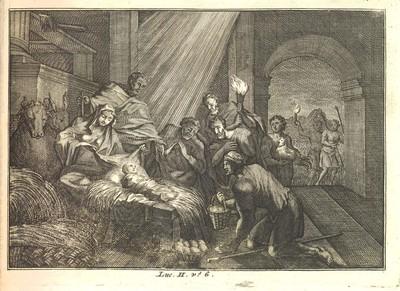 Histoire du Vieux et du Nouveau Testament. Amsterdam, 1706. Detail of the Nativity Scene