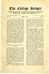 College Budget May 1917