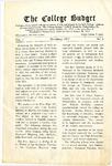 College Budget November 1917
