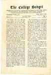 College Budget October 1917