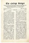 College Budget April 1918