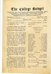 College Budget January 1918 by La Salle University