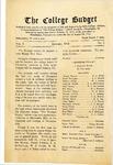 College Budget January 1918