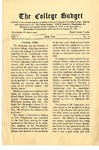 College Budget June 1918 by La Salle University