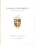 Undergraduate Commencement One Hundred and Fiftieth Year 2013 by La Salle University