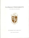 Graduate Commencement One Hundred and Fiftieth Year 2013 by La Salle University
