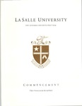 Undergraduate Commencement One Hundred and Fifty First Year 2014 by La Salle University