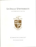 Graduate Commencement One Hundred and Fifty First year 2014 by La Salle University