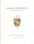 Graduate Commencement One Hundred and Fifty-Third year 2016 by La Salle University