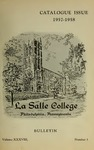 La Salle College Bulletin: Catalogue Issue 1957-1958