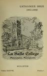 La Salle College Bulletin: Catalogue Issue 1957-1958