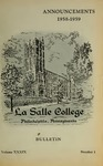 La Salle College Bulletin: Announcements 1958-1959