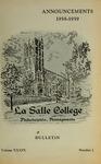 La Salle College Bulletin: Announcements 1958-1959