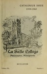La Salle College Bulletin: Catalogue Issue 1959-1960