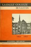 La Salle College Bulletin: Evening Division Announcement 1962-1963