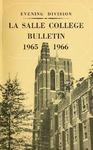 La Salle College Bulletin: Evening Division Announcement 1965-1966