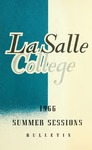 La Salle College Bulletin Summer Sessions 1966