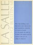 La Salle College Bulletin: Catalog Issue 1967-1968