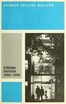 La Salle College Bulletin: Evening Division for Men and Women Announcement 1968-1969