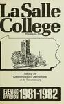 La Salle College Bulletin: Evening Division Announcement 1981-1982
