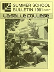 La Salle College Summer School Bulletin 1981