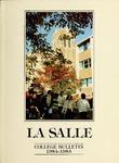La Salle College Bulletin: Catalog Issue 1984-1985