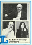La Salle University Evening Division Bulletin 1985-1986