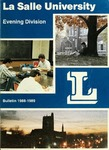 La Salle University Evening Division Bulletin 1988-1989