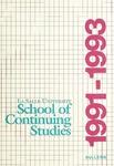 La Salle University School of Continuing Studies Bulletin 1991-1993
