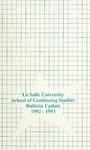 La Salle University School of Continuing Studies Bulletin Update 1992-1993