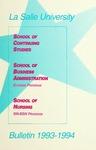 La Salle University Bulletin: School of Continuing 1993-1994  Studies