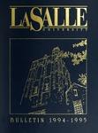 La Salle University Bulletin 1994-1995